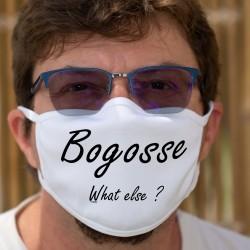 Bogosse, What else ? ★ beau gosse, quoi d'autre ? ★ Masque en tissu double couche lavable inspiré de la phrase de George Clooney