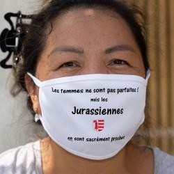 Jurassienne, femme parfaite ★ écusson Jura ★ Cotton mask