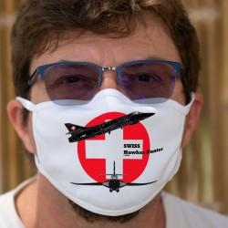 Swiss Hawker Hunter ★ Forces aériennes suisses ★ Masque en tissu lavable