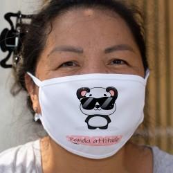 Panda attitude ❤ Kawaii ❤ Zweischichtige Schutzmaske aus Stoff