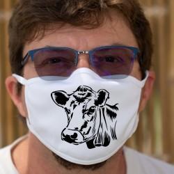 Tête de vache ❤ Masque en tissu lavable