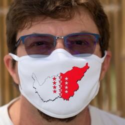 Walliser Grenzen in 3D ★ Zweischichtige Schutzmaske aus Stoff