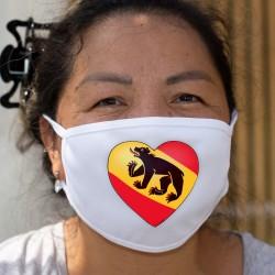 Cuore bernese ❤ Maschera di cotone