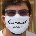Gourmand, What else ? ★ quoi d'autre ? ★ Masque en tissu lavable