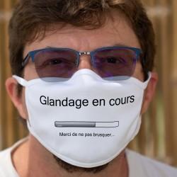 Glandage en cours ✪ merci de ne pas brusquer ✪ Masque en tissu lavable. Pour tout ceux qui on la flemme ou ne sont pas motivé