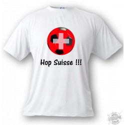Kinder Fussball T-shirt - Hop Suisse, White