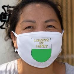 Liberté et Papet ★ Écusson vaudois ★ Masque en tissu double couche lavable