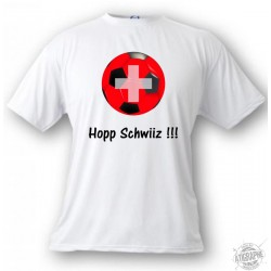 Kinder Fussball T-shirt -Hopp Schwiiz !!! , White