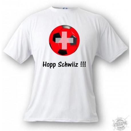 Kinder Fussball T-shirt -Hopp Schwiiz !!! , White