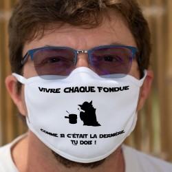 Vivre chaque fondue ★ Yoda ★ Cotton mask