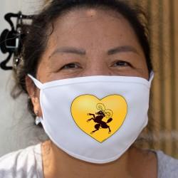 Coeur schaffhousois ❤ drapeau schaffhousois ❤ Masque en tissu