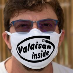 Valaisan inside ★ Valaisan à l'intérieur ★ Masque tissu lavable, inspiré de la publicité Intel pour ses microprocesseurs Pentium