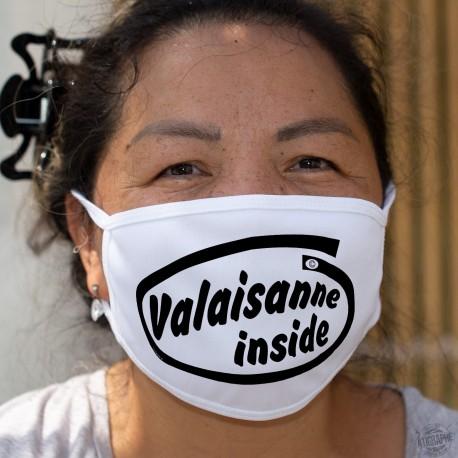 Valaisanne inside ★ Valaisanne à l'intérieur ★ Masque tissu lavable, inspiré de la publicité Intel pour ses microprocesseurs