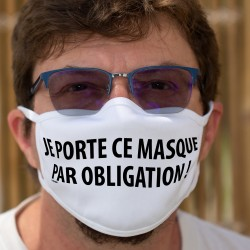 Je porte ce masque par obligation ! ✪ Maschera di cotone