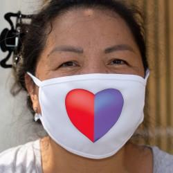 Coeur tessinois ❤ drapeau tessinois ❤ Masque en tissu