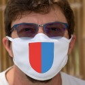 Écusson tessinois ★ Masque en tissu double couche lavable