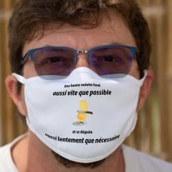 Une raclette ✚ Aussi lentement que nécessaire ✚ Cotton mask