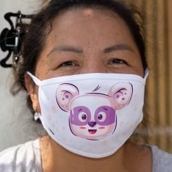 Happy Panda ❤ Kawaii ❤ Double-layer tissu mask
