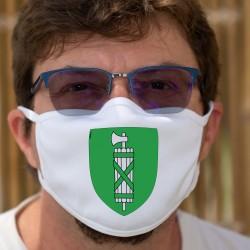 Écusson du canton de Saint-Gall ★ Masque en tissu double couche lavable
