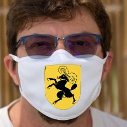 Écusson du canton de Schaffhouse ★ Masque en tissu double couche lavable