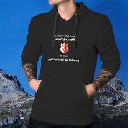 Un valaisan remplit son VERRE aussi vite que possible ✚ Maglione di cotone con cappuccio