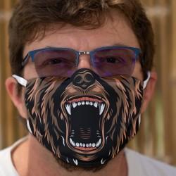 Gueule d'ours ★ Masque humoristique en tissu lavable