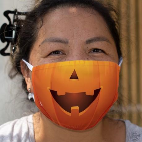 Courge d'Halloween ★ Masque humoristique en tissu lavable
