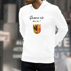 Genevois, What else ? ★ Genfer Wappen ★ Herren Kapuzen-Sweatshirt