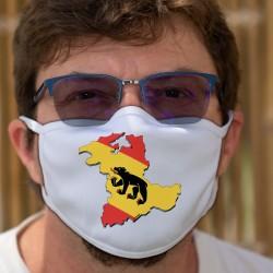 Berner Grenzen in 3D ★ Berner Wappen ★ Zweischichtige Schutzmaske aus Stoff