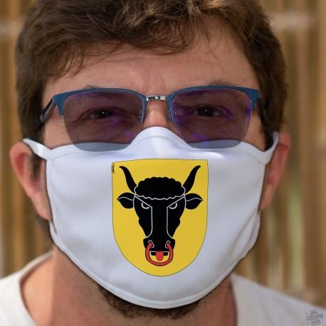Écusson du canton d'Uri ★ Masque en tissu double couche lavable