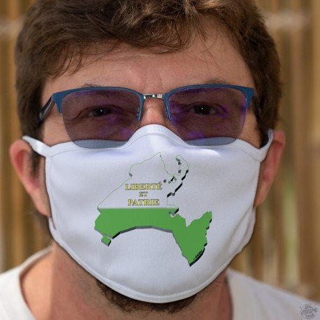 Frontières cantonales Vaudoises en 3D ★ Masque en tissu lavable à 60°C sur le canton de Vaud