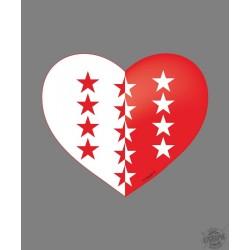 Walliser Herzaufkleber für Auto, Notebook, Tablet oder Smartphone