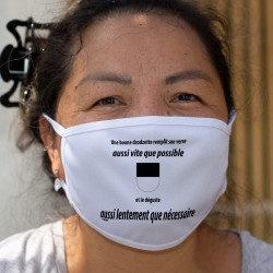Une dzodzette remplit son VERRE aussi vite que possible ✚ Cotton mask
