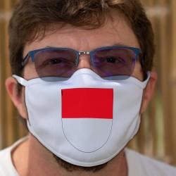 Écusson du canton de Soleure ★ Masque en tissu double couche lavable