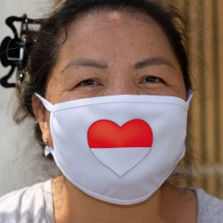 Coeur Soleurois ❤ drapeau Soleurois ❤ Masque en tissu