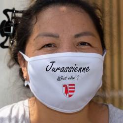 Jurassienne, What else ? ★ écusson Jurassien ★ Masque en tissu lavable ★ quoi d'autre ? ★