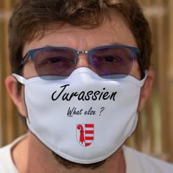 Jurassien, What else ? ★ écusson Jurassien ★ Masque en tissu lavable