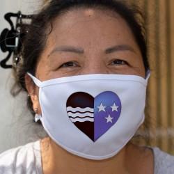 Coeur Argovien ❤ drapeau Argovien ❤ Masque en tissu