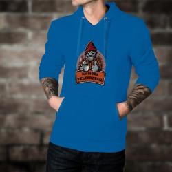 Cotton Hoodie T-Shirt - En mode télétravail ★ Gorille hipster ★