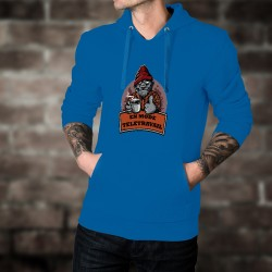 Maglione di cotone con cappuccio - En mode télétravail ★ Gorille hipster ★