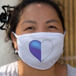 Coeur Lucernois ❤ drapeau Lucernois ❤ Masque en tissu
