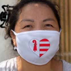Cuore di canton Giura ❤ Maschera di cotone
