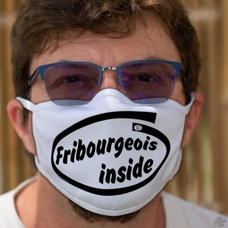 Fribourgeois inside ★ Fribourgeois à l'intérieur ★ Masque en tissu inspiré de la publicité Intel