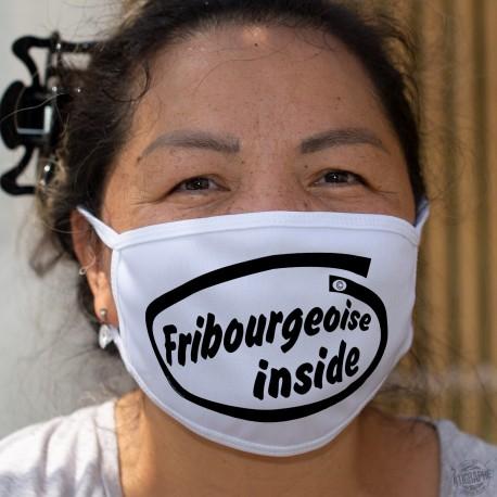 Fribourgeoise inside ★ Fribourgeoise à l'intérieur ★ Masque en tissu double couche, lavable sur le canton de Fribourg