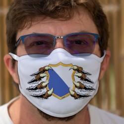 Blason zurichois tenu par des griffes ★ Masque en tissu lavable