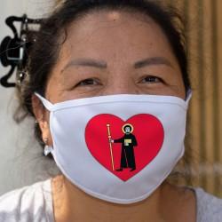 Glarner Herz ❤ Glarner Kantonsfahne ❤ Stoffschutzmaske