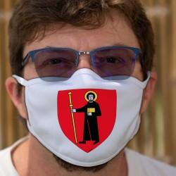 Écusson du canton de Glaris ★ Masque en tissu double couche lavable
