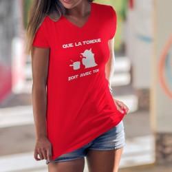 """Que la Fondue soit avec Toi ★ Yoda ★ T-Shirt coton dame inspiré de """"Que la force soit avec toi"""" Star Wars, la Guerre des étoiles"""