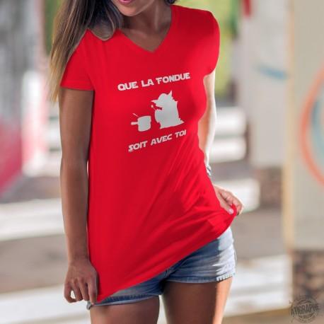 Que la Fondue soit avec Toi ★ Yoda ★ Women's Cotton T-Shirt