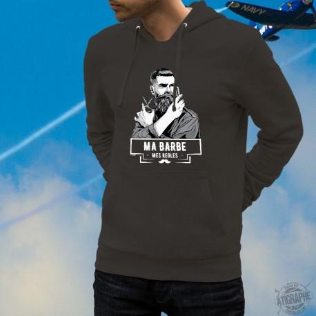 Cotton Hoodie T-Shirt - Ma barbe, mes Règles ★ Hipster ★